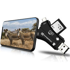 Trail Camera Card Reader Viewer for iPhone iPad Mac & Android, SD & Micro SD US