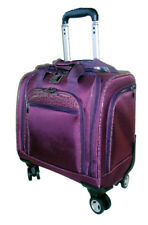 """Travelers Club 16"""" Rolling Under-Seater Dual-Spinner Briefcase - Carry On"""