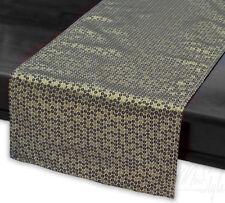 "MODERN TABLE RUNNER GOLDEN SEQUIN PATTERN LONG UNIQUE 13.8""X71"" (35CM X 180CM)"