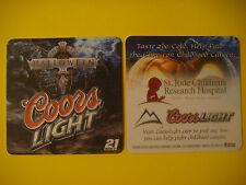 2006 Beer Bar Mat Coaster <> COORS Brewing Light ~ Halloween ~ St. Jude Hospital