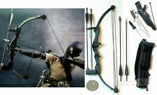 1:6 RAMBO STALLONE BOW ARROW KNIFE HOYT ARCHERY BLACK G_BOW_B