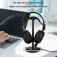 Headset Holder Headphone Stand Earphone Bracket Support Qi Wireless Fast Charger
