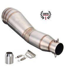 Stainlees Steel Exhaust Muffler Pipe Slip On GP style Racing Motorcycle 35 51mm