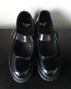 Womens Dr Martens Mariel Patent Black Leather Mary Jane Shoes VGC - UK 5