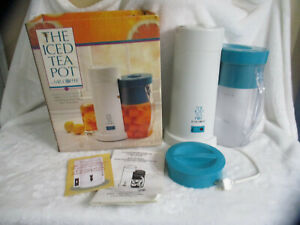 Mr Coffee ICED TEA POT Teal 2qt with Pitchers New Open Box UNUSED