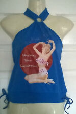 Ladies blue halter neck top by NAUGHTY designer Size 12 NEW itsy-bitsy bikini