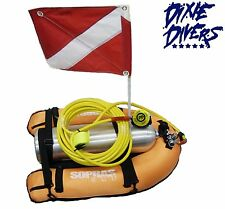 DIXIE DIVERS FLOAT DIVER HOOKAH KIT W/ HOSE REGULATOR TANK FLAG 3RD LUNG SCUBA
