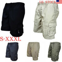 Men's Summer Cotton Shorts Sports Casual Army Combat Cargo Shorts Pants Trousers
