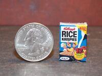 Dollhouse Miniature FOOD Breakfast Cereal Box  Milk 1:12 inch E58 Dollys Gallery