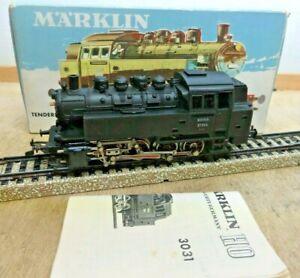 Märklin H0 3031 Locomotive à Vapeur Br 81 004 Cast Télex Côtés Illuminé D' Ovp