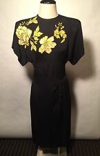 RARE COLLECTIBLE! 1940'S HOLLYWOOD DESIGNER superb dress-$1,500 on other site!