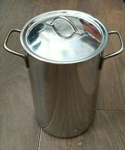 Stainless Steel Asparagus Corn on the Cob Tall Steamer Saucepan with Basket VGC