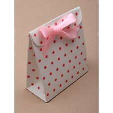 Nuevo 12 7x8x3.5cm Caja De Lunares Rosas Blancas Boda Favor Decoración de caja de regalo