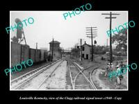 OLD 8x6 HISTORIC PHOTO OF LOUISVILLE KENTUCKY THE CLAGG RAILROAD TOWER c1940