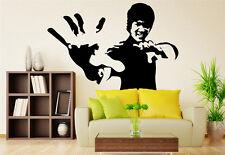 Noir bruce lee grand porpuler salon mur autocollants art décalcomanie uk RUI105