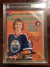 Wayne Gretzky Signed Sports Illustrated Bas Beckett Coa Slabbed Encapsulated