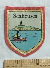 Seahouses Village Northumberland England UK Sailboat Lighhouse Felt Patch
