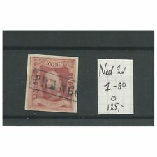 Ned.Indie  1 pos 90   Willem III 1864  briefstukje VFU/gebr  CV 125 €