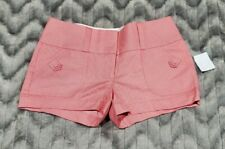 Charlotte Russe Womens Size 2 Melon Pink White Striped Shorts NWT