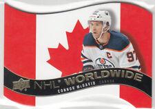Upper Deck 2020-21 - NHL Worldwide Die-Cut Version - Connor McDavid #WW-7