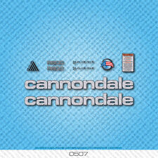 Cannondale R600 Bicycle Decals - Transfers - Stickers - Silver/Black - Set 0507