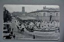 R&L Postcard: Doncaster Market, Silver/Metal Type Finish 1907 Alumino