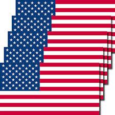 5 Stück 6,5cm Aufkleber Sticker USA Amerika US Fußball EM WM Flaggen Fahnen