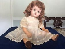 "Vintage 1930s Alexander 16"" Baby Doll Composition Rubber Cloth Stuffed Body"