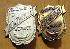 LOT VINTAGE 10 AND 5 YEAR NORTHVILLE TEACHING LONG SERVICE PINS STERLING