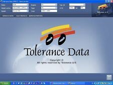 TOLERANCE DATA 2009.2 WORKSHOP MANUAL