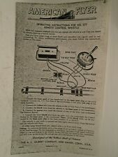 Repro American Flyer #M2444 Operating Instructions For #577 Whistle