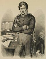 BURGER, Porträt des Generalleutnants Scharnhorst, 19. Jh., Holzstich