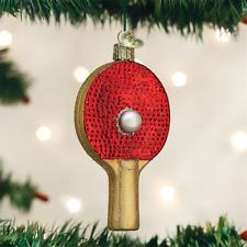 OLD WORLD CHRISTMAS PING PONG PADDLE GLASS CHRISTMAS ORNAMENT 44105