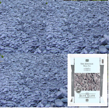 Blue Slate 20mm Bright Beautiful Natural Landscaping Aggregates 20kg easy handle