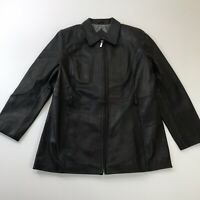 VALERIE STEVENS Women's Genuine Lamb Leather Jacket Coat Casual Ladies Biker L