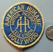 AMERICAN HUMANE ASSOCIATION HOLLYWOOD MOTION PICTURE TV PATCH SPCA ASPCA