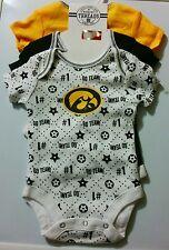 Set of 3 Iowa Hawkeyes Creeper Size 0-3 Months Infant Girls Brand New