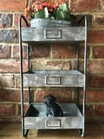 Vintage Industrial Metal Storage Cupboard Cabinet Rack Wall Shelf Shelving Unit