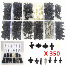 350 Pcs Auto Body Plastic Push Pin Rivet Fasteners Trim Moulding Clip Assortment