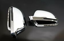 Audi-A5 S5 B8 Full Chrome Finish Door Wing Mirror Caps Cover Case Housing S Line