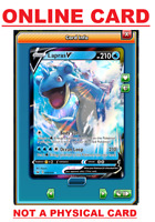 Lapras V - 49/202 Sword & Shield Ultra Rare PTCGO ONLINE Pokemon Card