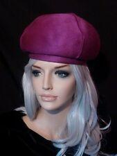 Vintage hat Duby NY mod purple bubble beret Helios 1960