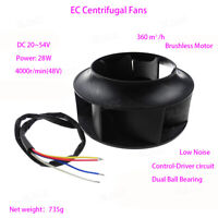 DC 48V Low Voltage Outer Rotor Brushless Centrifugal Fan DIY Radiator Blower FY