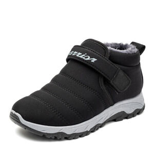 Mens Casual Comfy Outdoor Ankle Boots Winter Warm Fleece Lined Snow Shoes Flats