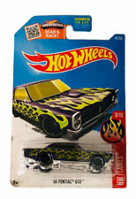 2015 Hot Wheels #9/10 Flames 1965 Pontiac GTO Purple With Green Flames NEW