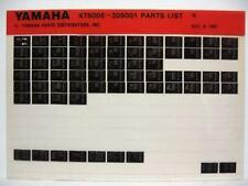 Yamaha XT500 1978 XT500E Dual Purpose Parts List Manual Microfiche n17