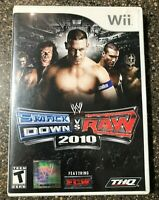 WWE SmackDown vs. Raw 2010 Featuring ECW (Nintendo Wii) Tested Working