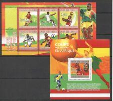 UC160 2010 COMOROS SPORT FOOTBALL SOCCER BL+KB MNH