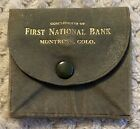 Vtg First National Bank~Montrose, Colorado~ Advertising Coin Purse Holder~As-Is