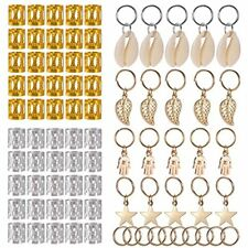 Hair Pins 80 Pieces Jewelry Rings Decorations Pendants, Including 50 PCS Beads